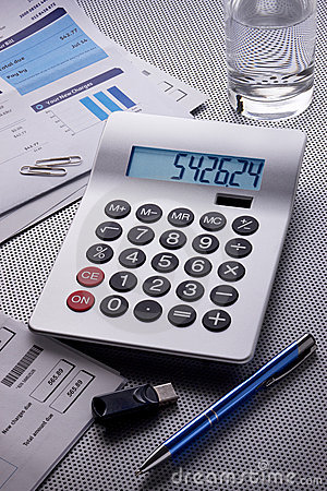 Calculator Bills Expenses Finance Debts