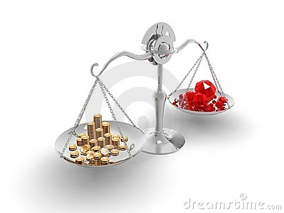 Balance coined gold and the gems