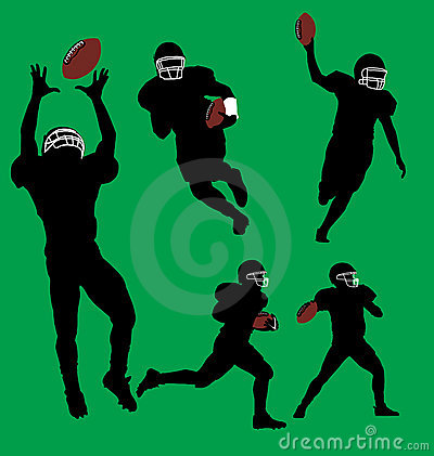 Football Player silhouettes.