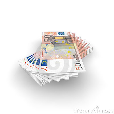 Fan of money from the Euro