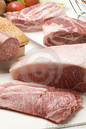 A variety of Meats