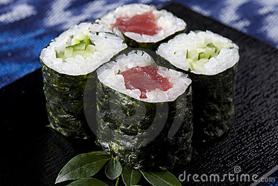 Tuna roll and Cucumber roll