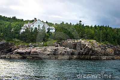 Mansion on the coast Maine