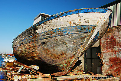 Old hull, ship wreck.
