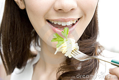 Mouth of Japanese woman