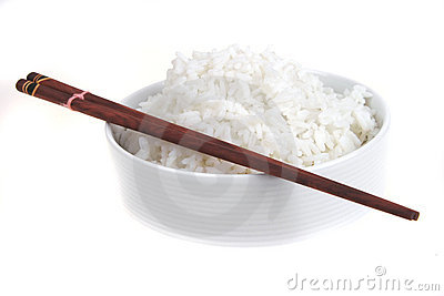 Cooked china rice and porcelain