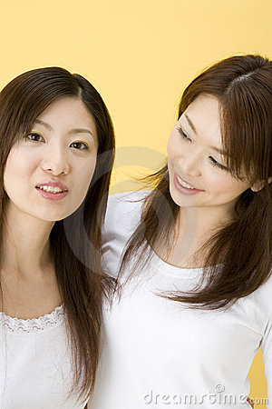 Smiling Japanese women