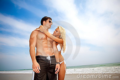 Couple in love at vacation