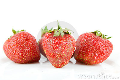 Ripe and fresh strawberries