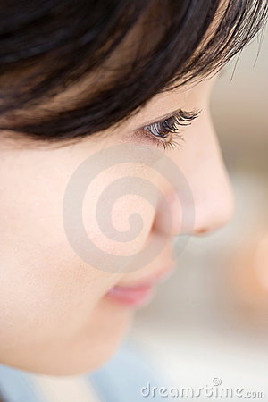 Profile of Japanese woman