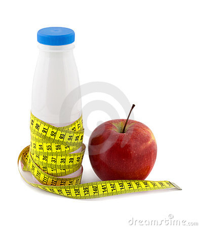 Bottle milk apple measure tape