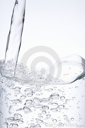 Poured water