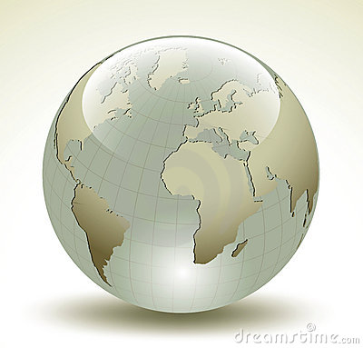 3D Earth glossy sphere