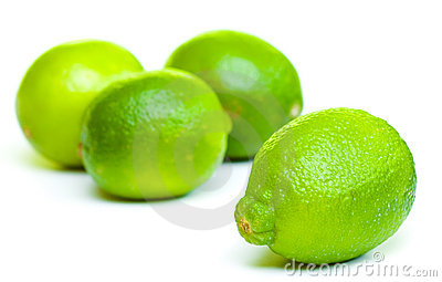 Isolated fruits - limes