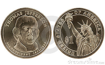 Jefferson Presidential dollar coin
