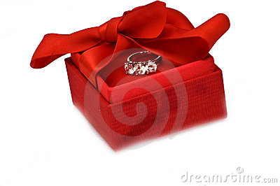 Gift box with ring