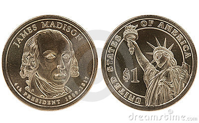 Madison Presidential dollar coin