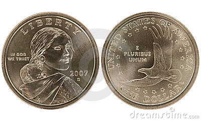 Sacajawea Golden Dollar coin
