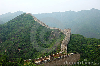 Greatwall in green hills