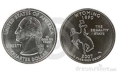 Wyoming State Quarter coin