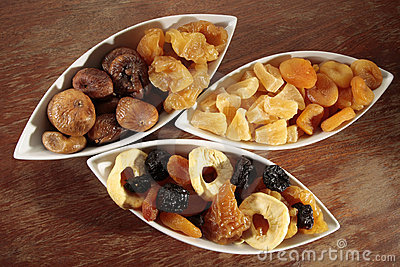 Assortment of dried fruits