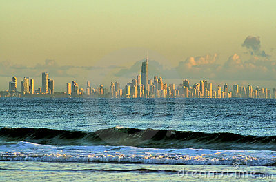 Distant Surfers Paradise Skyline