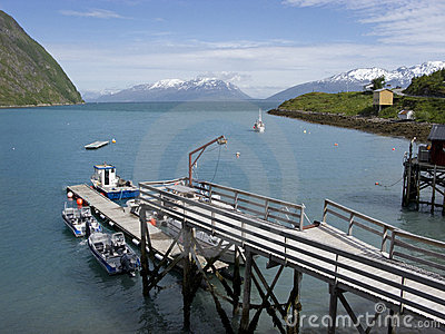 Fishing wharf on Lyngenfjord