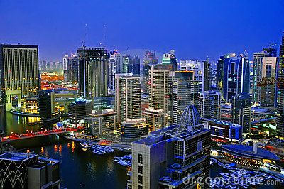 Dubai City Scape Night Scene 4