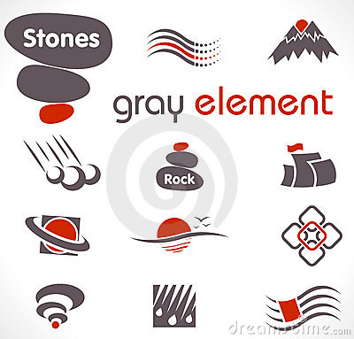 Vector abstract design elements. Set 9.
