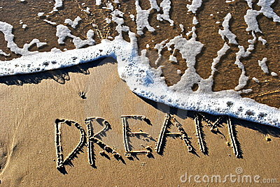Dream written on sand