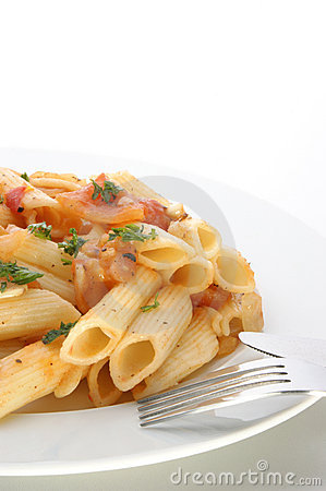Pasta with tomato and spices