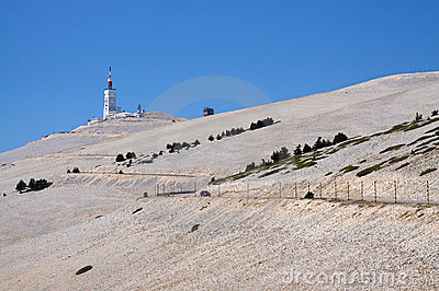 The summit of Mont Ventoux, France