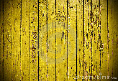 Yellow grungy wooden plank
