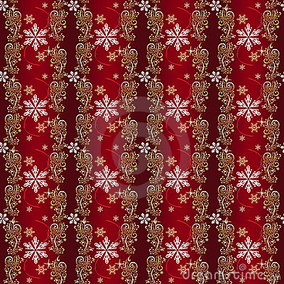 Red and Gold and Silver Christmas Wrapping paper