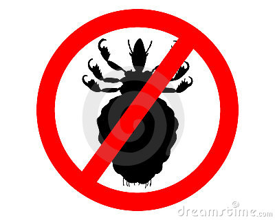 Prohibition sign for lice