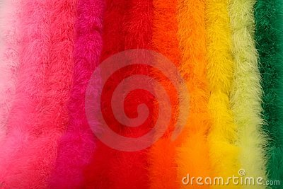 Dyed Ostrich Feather Boas