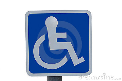 Wheel chair sign with clipping path