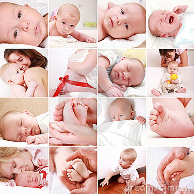 Baby and pregnancy collage