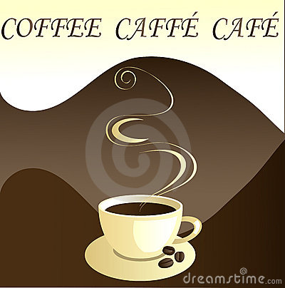Coffee, caffe, cafe, vector
