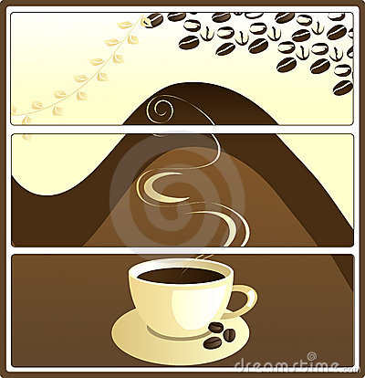 Coffee tags, vector