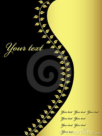 Golden and black design, vector