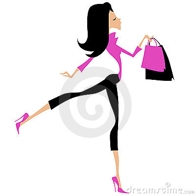 Fashionable woman shopping