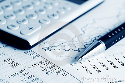 Financial accounting stock market graphs and charts