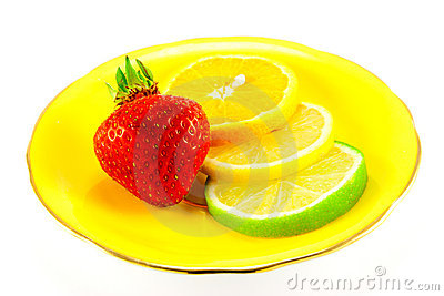 Citrus Fruit and Strawberry