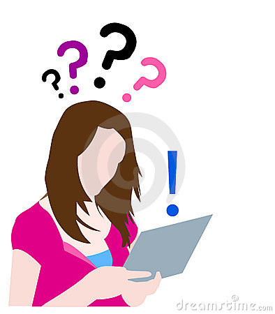 Teen with questions searching on web