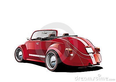 Red classic convertible
