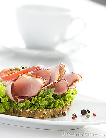 Delicious sandwich & cup of coffee