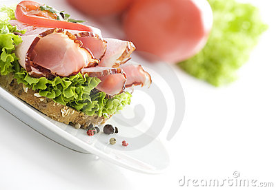 Delicious sandwich & tomatoes