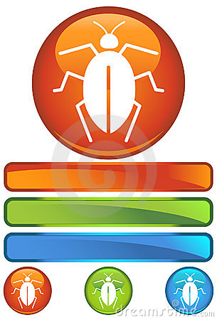 Orange Round Icon - Cockroach