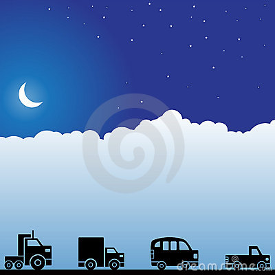 Night Sky Scene - Trucks